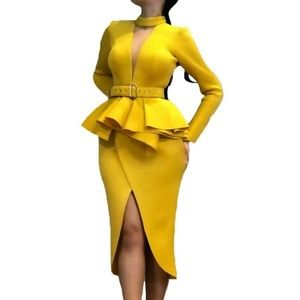 Yellow Business Casual Dress